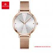 Đồng hồ nữ Julius JA1222 dây thép vàng đồng