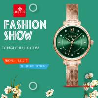 Đồng hồ nữ Julius JA1217 dây thép vàng đồng mặt xanh - Size 28