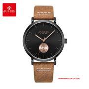 Đồng hồ nam Julius JAH-112C dây da nâu - Size 41