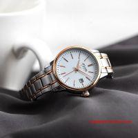 Đồng hồ nữ Julius JA-1205 dây thép mặt trắng - Size 30