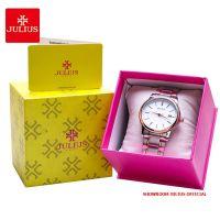 Đồng hồ nam Julius JA-1205 dây thép mặt trắng - Size 37