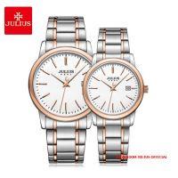 Đồng hồ cặp Julius JA-1205 dây thép mặt trắng
