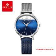 Đồng hồ nữ Julius JA-1237A dây thép - Size 32