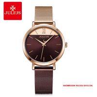 Đồng hồ nữ Julius JA-1237B dây thép đồng nâu - Size 32