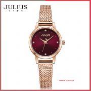 Đồng hồ nữ Julius Star JS-045B dây Inox kính saphire - Size 25