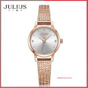 Đồng hồ nữ Julius Star JS-045A dây Inox kính saphire - Size 25