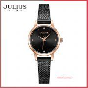 Đồng hồ nữ Julius Star JS-045C dây Inox kính saphire - Size 25