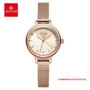 Đồng hồ nữ Julius JA-1241 dây thép vàng đồng - Size 25
