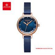 Đồng hồ nữ Julius JA-1241 dây thép xanh - Size 25