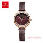 Đồng hồ nữ Julius JA-1241 dây thép nâu tím - Size 25