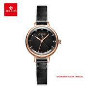 Đồng hồ nữ Julius JA-1241 dây thép đen - Size 25
