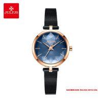 Đồng hồ nữ Julius JA-1225 dây thép xanh