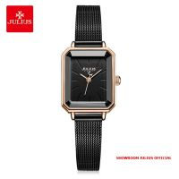 Đồng hồ nữ Julius JA-1223 dây thép đen