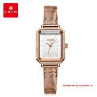Đồng hồ nữ Julius JA-1223 dây thép vàng đồng