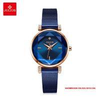 Đồng hồ nữ Julius JA-1214 dây thép xanh