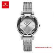 Đồng hồ nữ Julius JA-1214 dây thép bạc - - Size 28