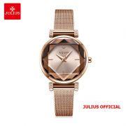 Đồng hồ nữ Julius JA-1214 dây thép vàng đồng - - Size 28