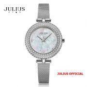 Đồng hồ nữ Julius Star JS-041 dây Inox kính saphire - Size 29