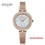 Đồng hồ nữ Julius Star JS-041B dây Inox kính saphire - Size 29