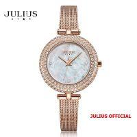 Đồng hồ nữ Julius Star JS-041B dây Inox kính saphire