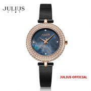 Đồng hồ nữ Julius Star JS-041C dây Inox kính saphire - Size 29