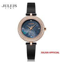 Đồng hồ nữ Julius Star JS-041C dây Inox kính saphire