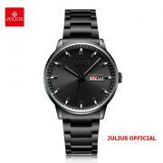 Đồng hồ nam Julius JAH-114 dây thép đen - Size 40