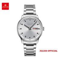 Đồng hồ nam Julius JAH-114 dây thép bạc - Size 40