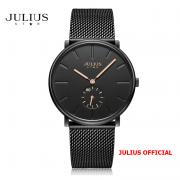 Đồng hồ nữ Julius Star JS-043 dây thép đen kính Sapphire - Size 38
