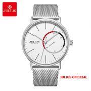 Đồng hồ nam Julius JAH-119A dây thép bạc - Size 40