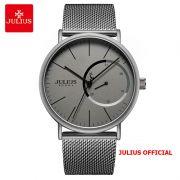 Đồng hồ nam Julius JAH-119A dây thép xám - Size 40