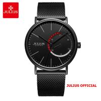 Đồng hồ nam Julius JAH-119A dây thép đen - Size 40