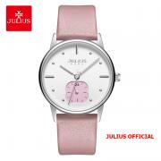 Đồng hồ nữ Julius JA-1244 dây da hồng - Size 34