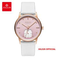 Đồng hồ nữ Julius JA-1244 dây da trắng - Size 34