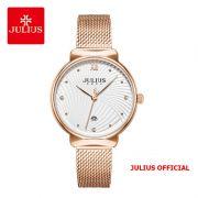 Đồng hồ nữ Julius JA-1243 dây thép vàng đồng - Size 32