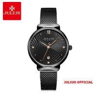 Đồng hồ nữ Julius JA-1243 dây thép đen - Size 32