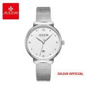 Đồng hồ nữ Julius JA-1243 dây thép bạc - Size 32