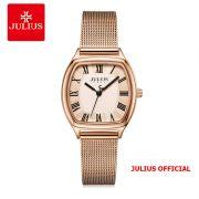 Đồng hồ nữ Julius JA-1242 dây thép lưới vàng đồng - Size 25