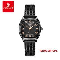 Đồng hồ nữ Julius JA-1242 dây thép lưới đen - Size 25