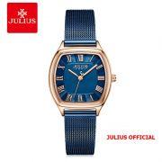 Đồng hồ nữ Julius JA-1242 dây thép lưới XANH - Size 25