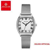 Đồng hồ nữ Julius JA-1242 dây thép lưới trắng bạc - Size 25