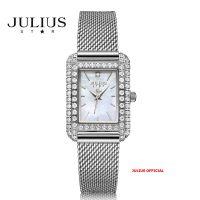 Đồng hồ nữ Julius Star JS-046 dây thép bạc kính Sapphie - Size 25
