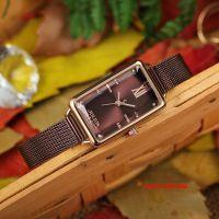 Đồng hồ nữ Julius JA1215 dây thép nâu