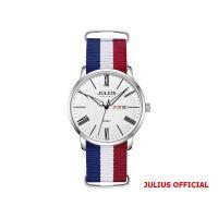 Đồng hồ nam Julius JAH-124 dây vải mặt trắng - Size 40