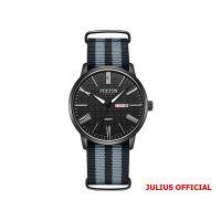 Đồng hồ nam Julius JAH-124 dây vải mặt đen - Size 40
