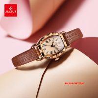Đồng hồ nữ Julius JA-544 dây da nâu - Size 22