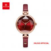 Đồng hồ nữ Julius JA1230 dây da đỏ - Size 29