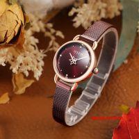 Đồng hồ nữ Julius JA-1192 dây thép nâu - Size 26