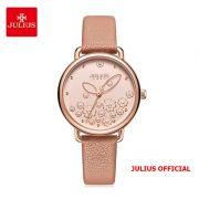 Đồng hồ nữ Julius JA-1239 dây da màu da - Size 34