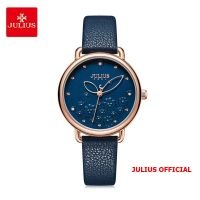 Đồng hồ nữ Julius JA-1239 dây da xanh - Size 34